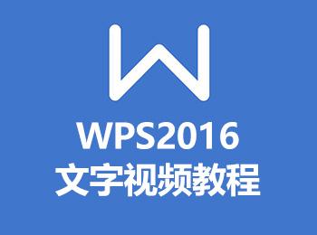 WPS2016文字视频教程_软件自学网