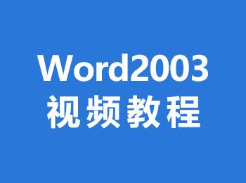 Word2003视频教程_软件自学网
