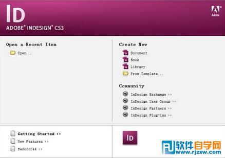 Adobe InDesign cs3中文破解版下载_软件自学网