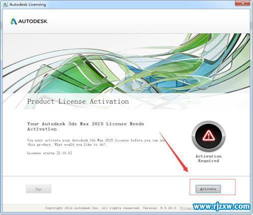 3dmax2015激活码的使用和32位注册下载_软件自学网