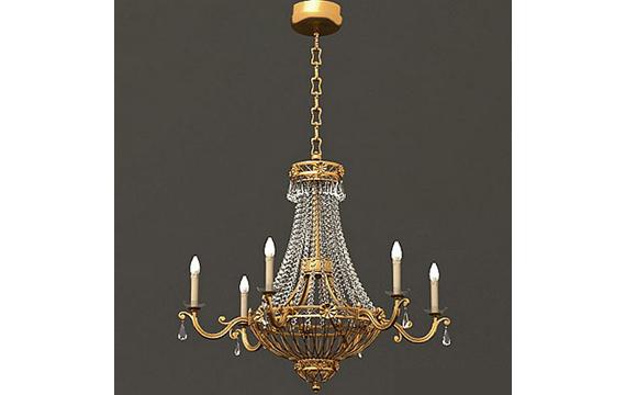 欧式风格的水晶吊灯3d模型图