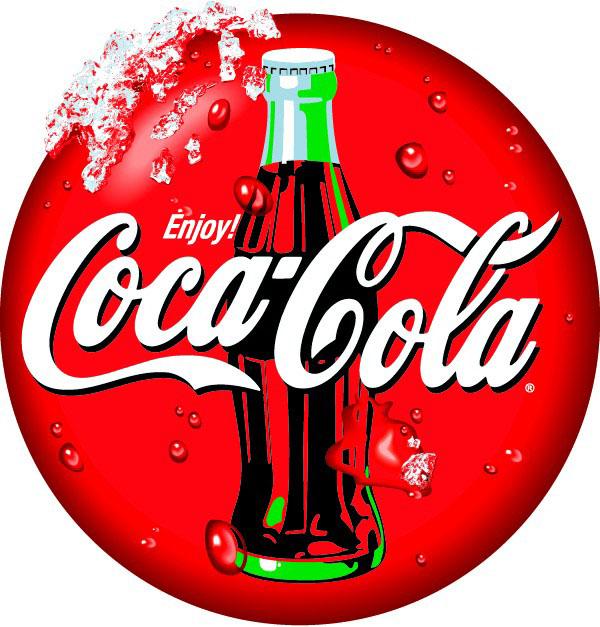 可口可乐圆形标志矢量图免费素材下载
