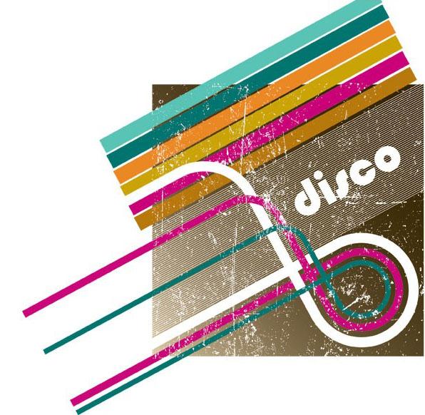 disco潮流彩虹条矢量图免费素材下载