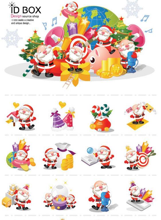 多种圣诞老人矢量图素材免费素材下载