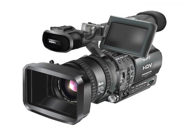 高级逼真的sony摄像机素材矢量图免费素材下载