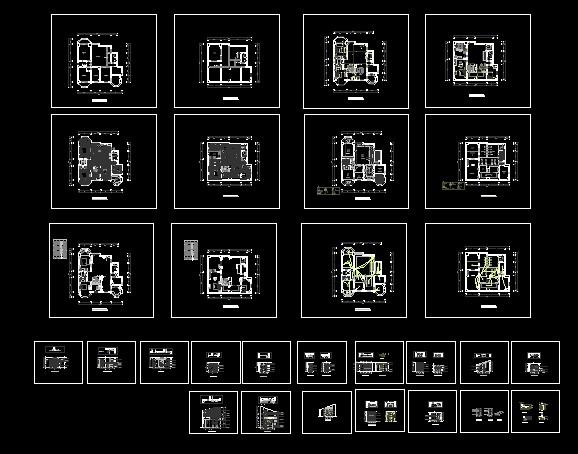 cad跃层装修设计图纸素材下载 - 软件自学网