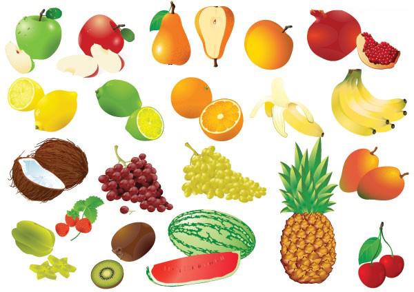 水果及水果边框素材矢量图免费素材下载
