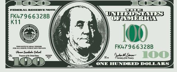 美元纸币素材矢量图
