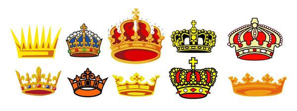 多款精美的宝石皇冠素材矢量图
