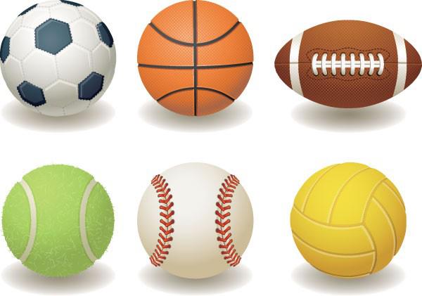 排球素材矢量图