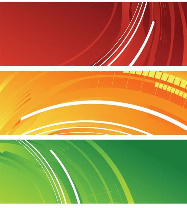 5种颜色banner网页背景素材矢量图免费素材下载