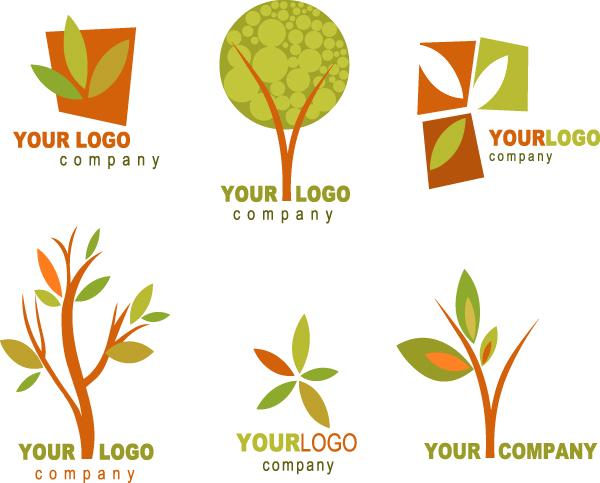 矢量logo,设计素材,标志,树木,抽象,环保主题,树叶,叶子,绿色