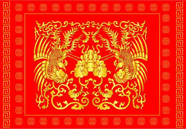 几款中国传统喜庆吉祥图案素材矢量图