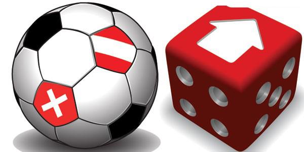 红色立体色子与足球素材矢量图