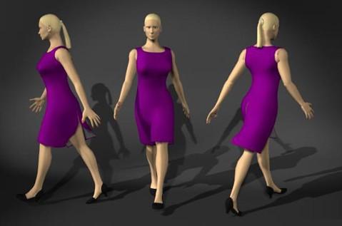 女人走路的3dmax模型免费素材下载