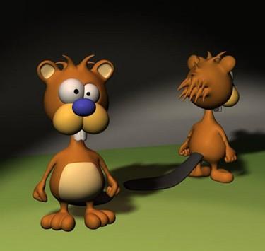 3d卡通动物模型免费素材下载