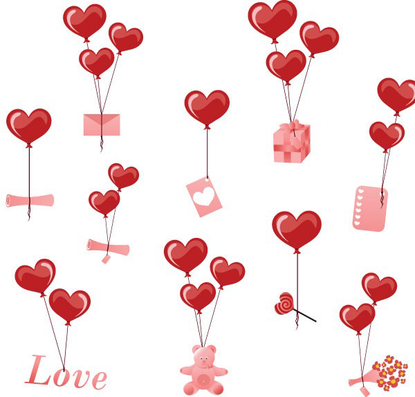 情人节爱心素材矢量图