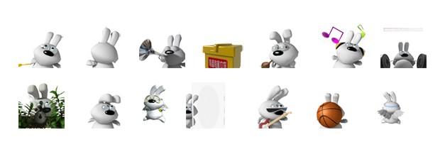 叽叽兔qq表情包素材下载