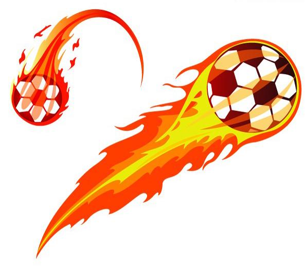 在空中飞行的足球