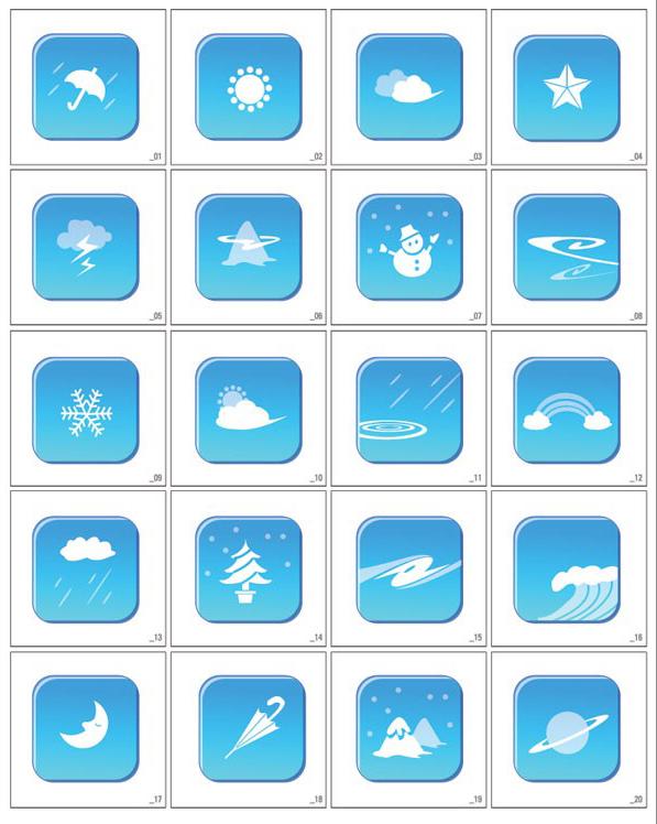韩国graphic天气矢量图标素材下载