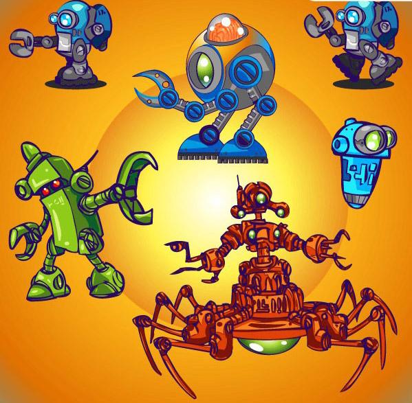 可爱卡通机器人素材下载
