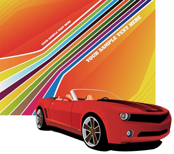 下一个素材:超酷红色摩托车与金属质感重型摩托车