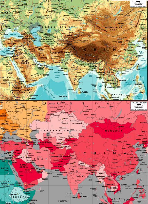 精美亚洲地图素材下载