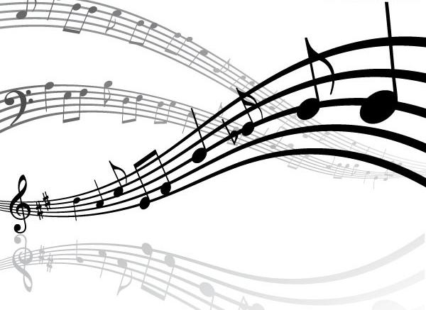 霸气音符黑白矢量图