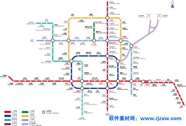 北京地铁交通矢量素材免费素材下载