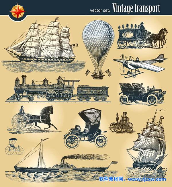 欧式古老交通运输工具