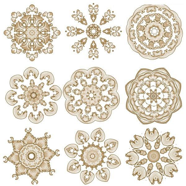 欧式圆形花纹图案