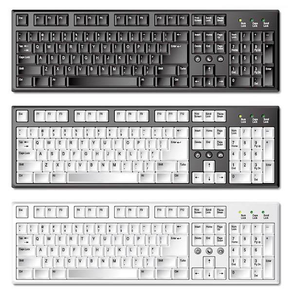 键盘矢量图素材下载
