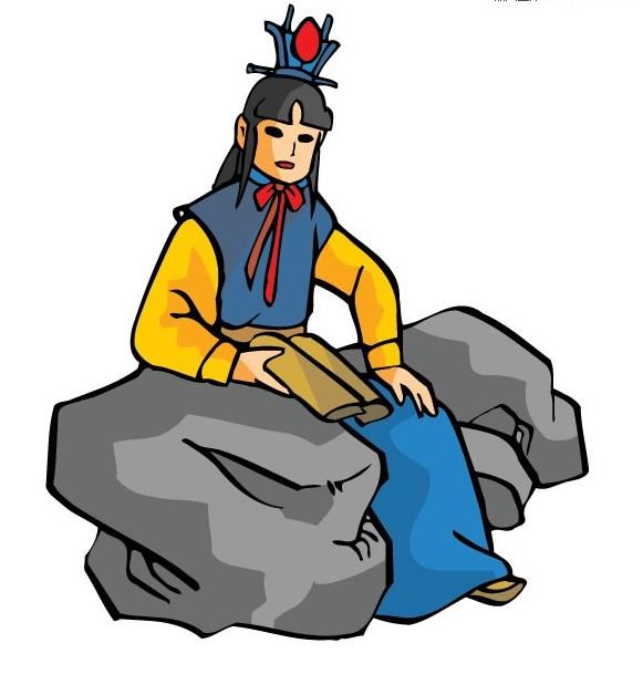 红楼梦人物之贾宝玉卡通矢量素材下载