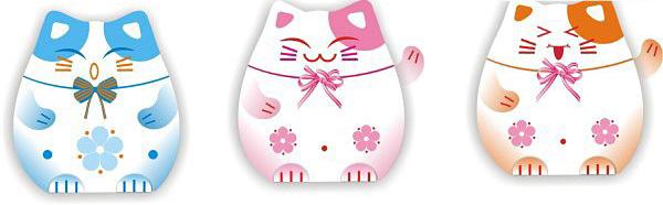 可爱的日本av女优风格的招财猫矢量素材免费素材下载