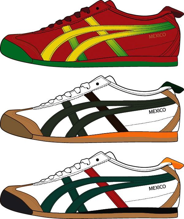 流行款式运动鞋矢量图素材下载