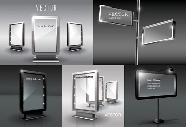 户外灯箱立体展示效果矢量图素材下载免费素材下载