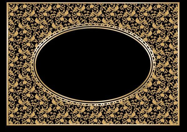 一款经典欧式花纹边框矢量图素材由软件自学网免费提