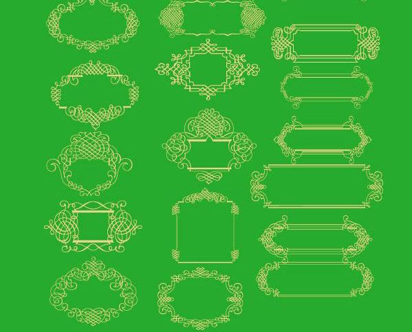 一款中国传统富贵花圆形花纹矢量图素材下载免费素材下载