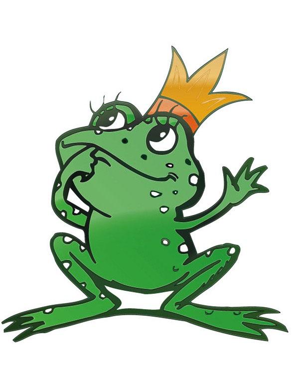 青蛙王子卡通矢量图免费素材下载