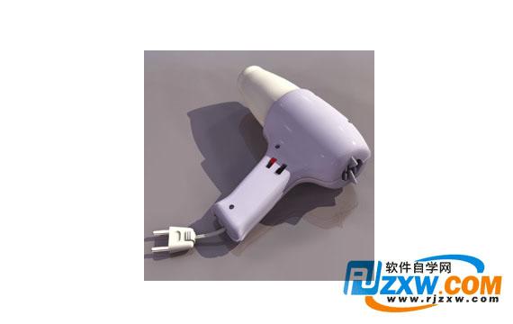 电吹风3dmax模型免费素材下载高清图片