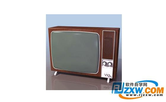 黑白电视机3d模型免费素材下载