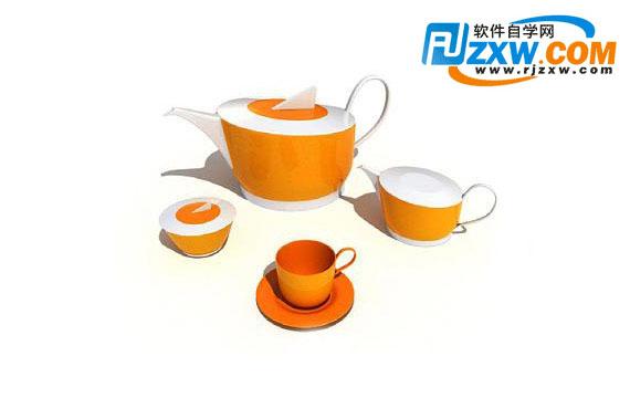 茶具3dmax模型免费素材下载