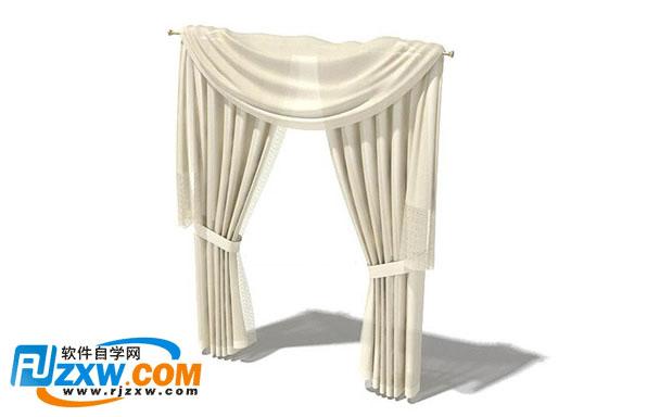 3dmax窗帘模型免费素材下载
