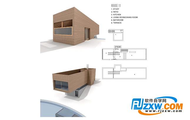现代别墅3dmax模型免费素材下载高清图片