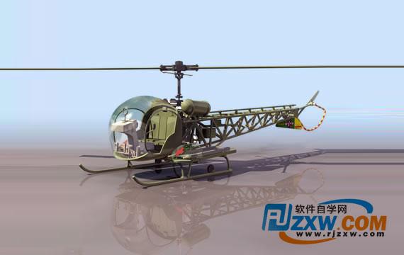 直升飞机3dmax素材免费素材下载