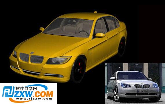 宝马汽车3dmax模型免费素材下载高清图片