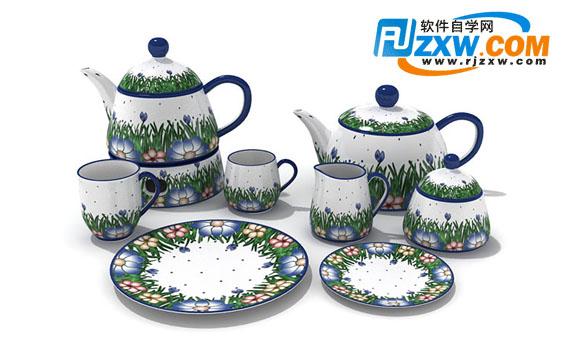 茶具3dmax模型