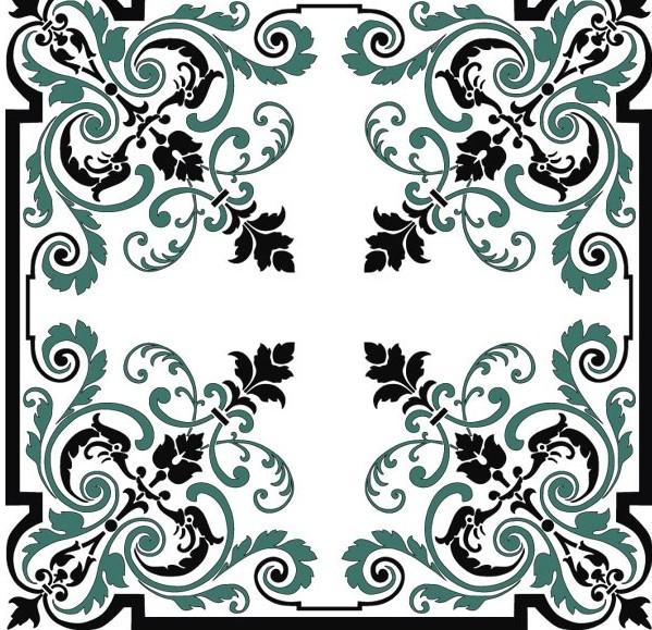 欧式古典花纹边角矢量素材免费素材下载