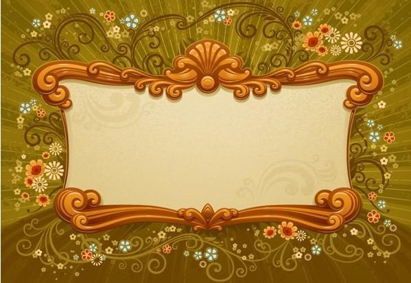 欧式风格精美边框矢量素材免费素材下载