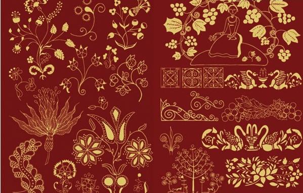 多款精美的中国古典花纹矢量素材